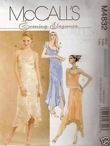 McCall Sewing Pattern 4832 Misses Evening Prom « Dress Adds Everyday ...