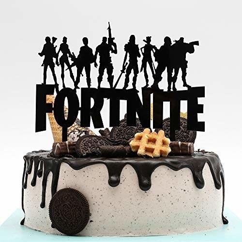 "Fortnite Birthday Cake 7"" Topper Acrylic Decor - Piano ..."