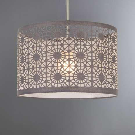 Dunelm Arlo Stylish Decorative White Fabric Ceiling Light Shade
