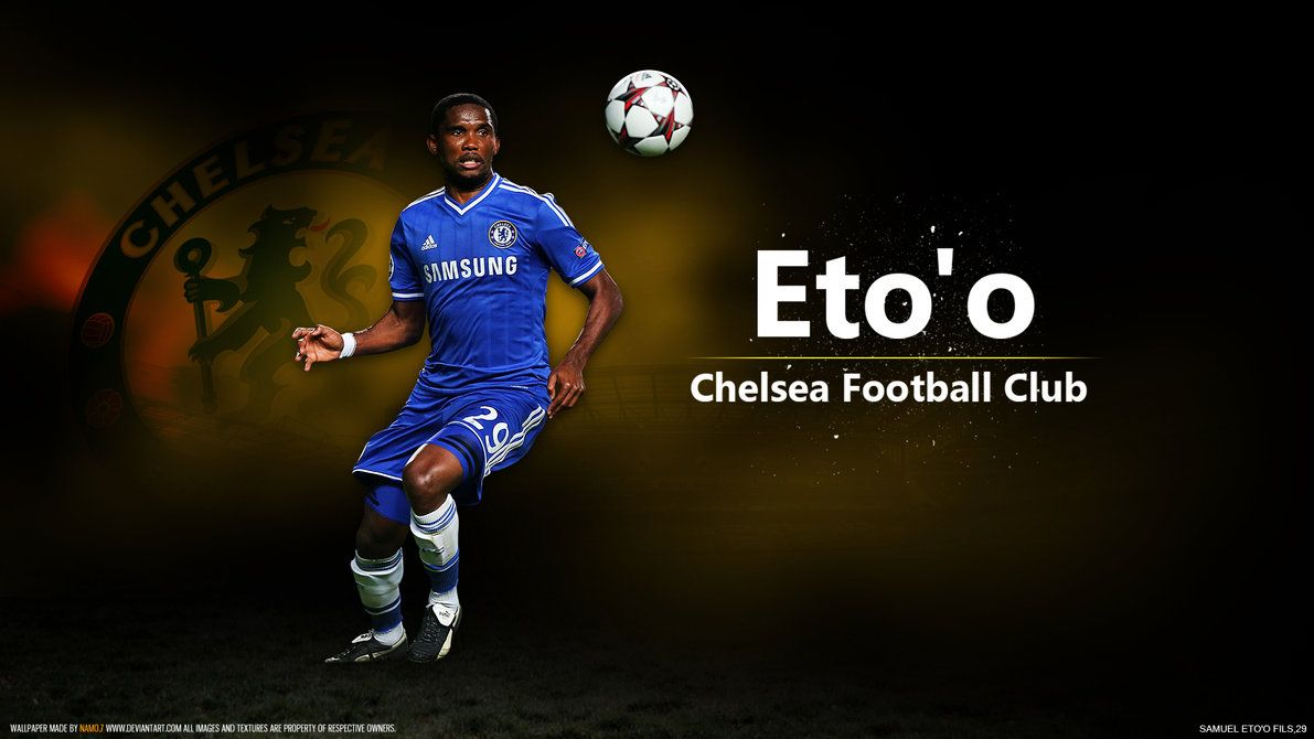 Samuel Eto O Football Wallpaper Chelsea Football Football Wallpaper Chelsea Football Club