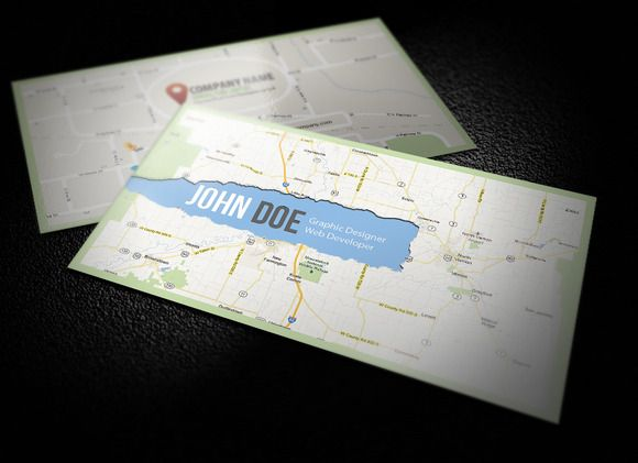 Map business card by calwin on creative market identity map business card by calwin on creative market colourmoves