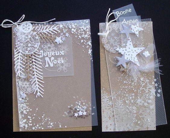 2 Cartes de Noël en #FlexPlak et #Priplak, réalisées par Emilie Burkhalter pour Laura Pack Boutique