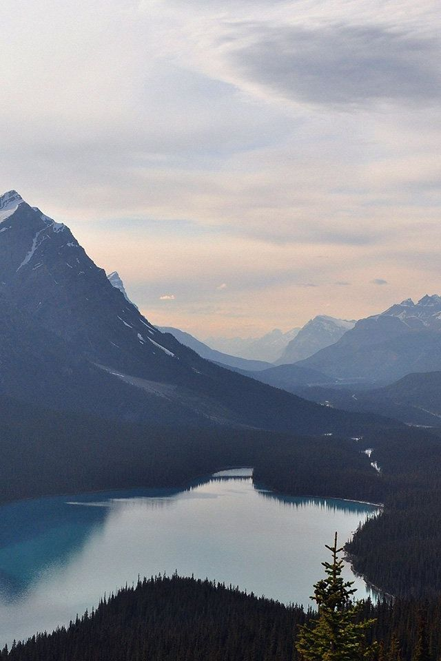 Lake Mountain Sky Clear Nature Iphone 4s Wallpapers Paisajes Fondos De Pantalla Astronomia