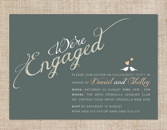 Ness And Aron Design Pinterest Engagement Invitation Ideas - Pre wedding invitation templates