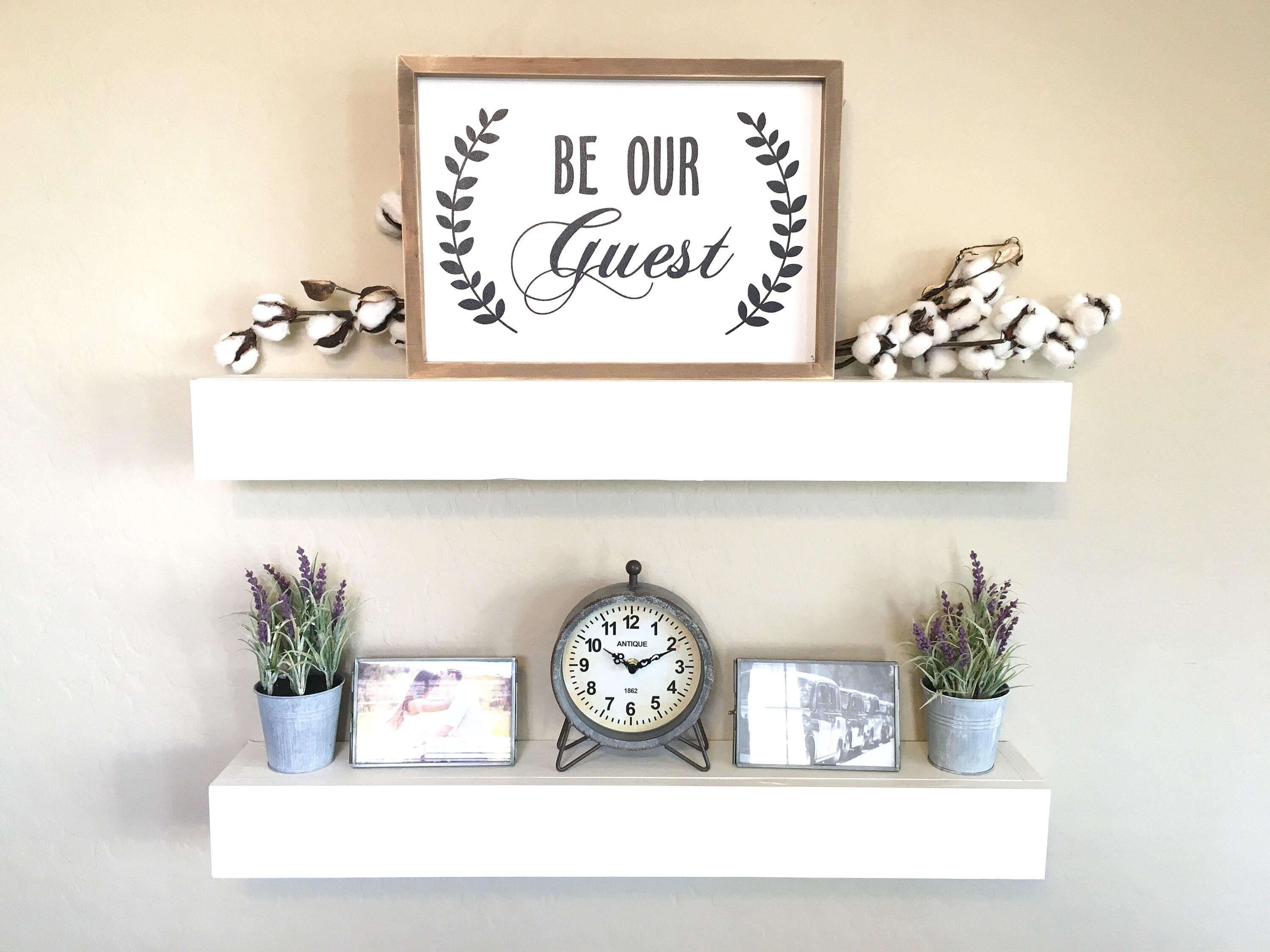Floating Shelves Wall Shelves Farmhouse Decor Rustic Shelves Floating Shelf White Floating Sh Floating Shelves White Floating Shelves Floating Shelf Decor