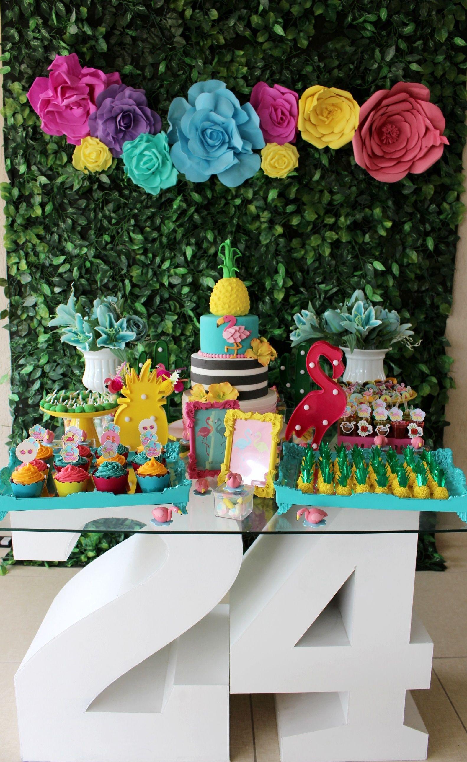 Matrimonio Tema Tropical : Decoração de festa tema tropical flamingo mayara vieira