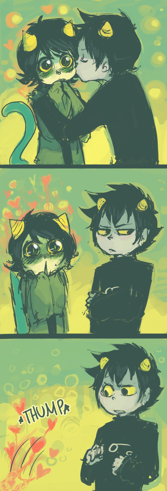 Karkat and nepeta   so cute  don   ship them that hard but still it      am shipping fucking my brain just exploded when also rh pinterest