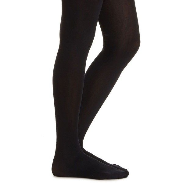 Charlotte Russe Basic 60 Denier Tights (6.80 CAD) ❤ liked on Polyvore featuring intimates, hosiery, tights, black, charlotte russe, opaque stockings, black stockings, opaque pantyhose and black hosiery