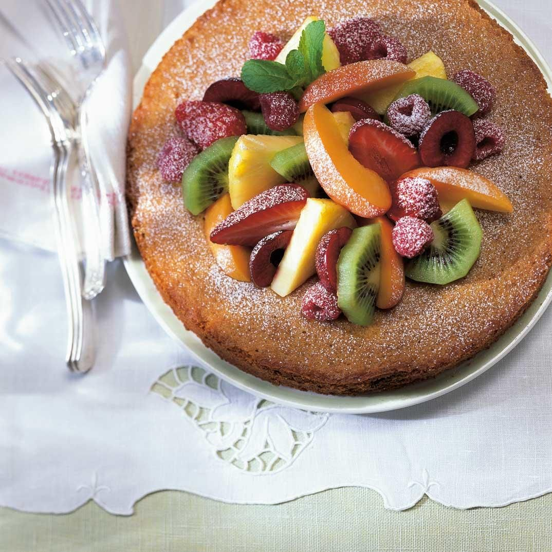 Italian Brunch Torte Recipe: Italian Torte With Fruit, Olive Oil And Balsamic Vinegar