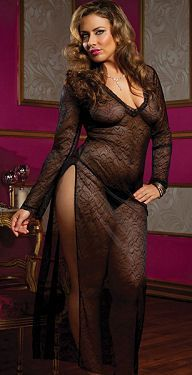 Nightgown sexy plus size