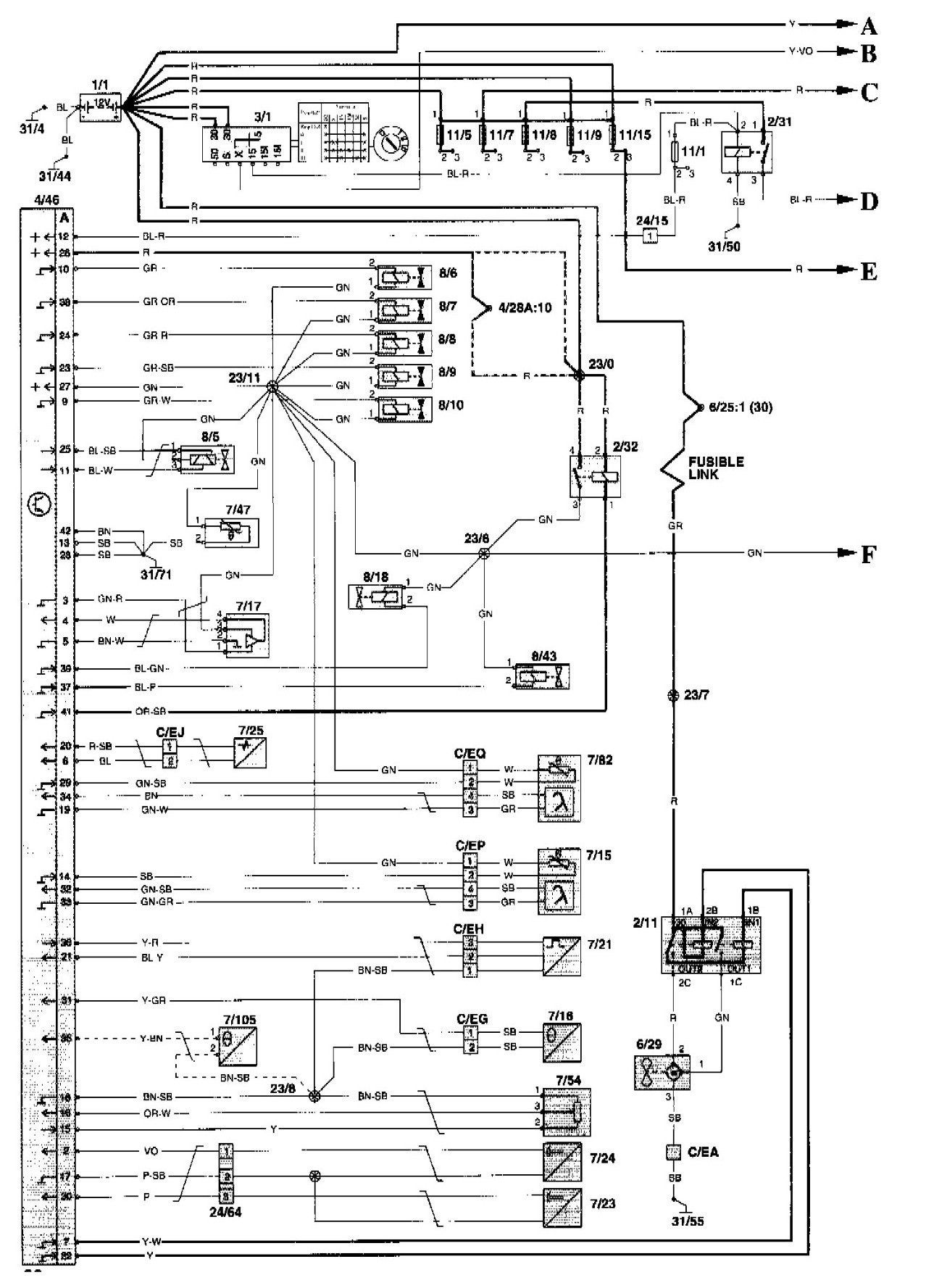 99 Volvo S80 Wiring Diagram