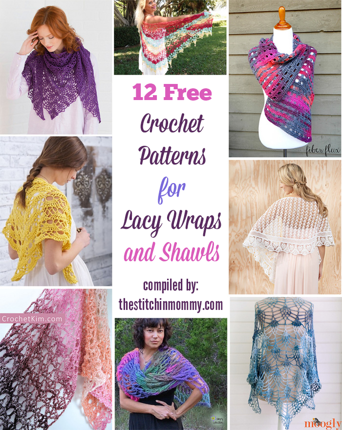 12 Free Crochet Patterns for Lacy Wraps and Shawls | Crochet ...