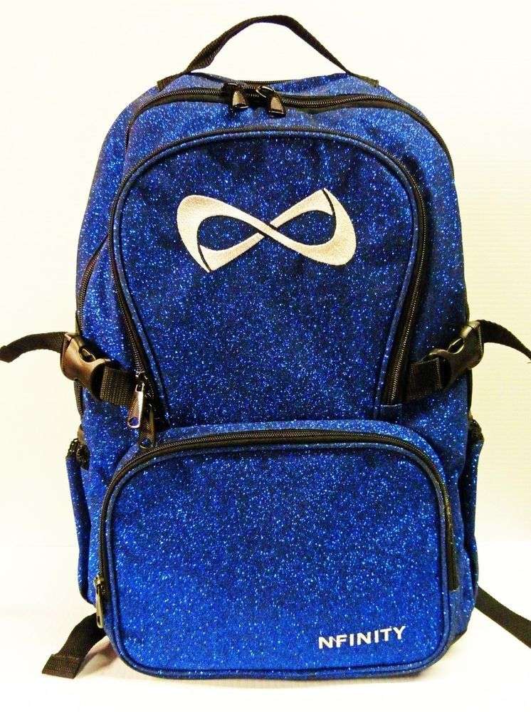 Nfinity Royal Blue Sparkle Backpack Cheerleading Cheer Bag Glitter