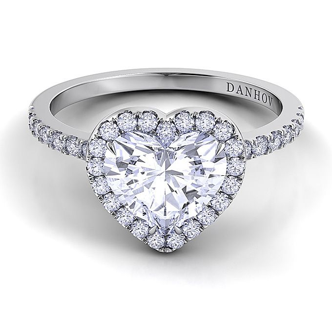 Heart shaped engagement rings engagement ring styles shank and heart shaped engagement rings junglespirit Image collections
