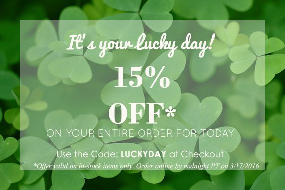It might be your lucky day! Use code: LUCKYDAY at checkout .  Hurry this offer is just available untill midnight PT. Find your bathrobe at Towelrobes.com! #stpatricksday #deal #towelrobes