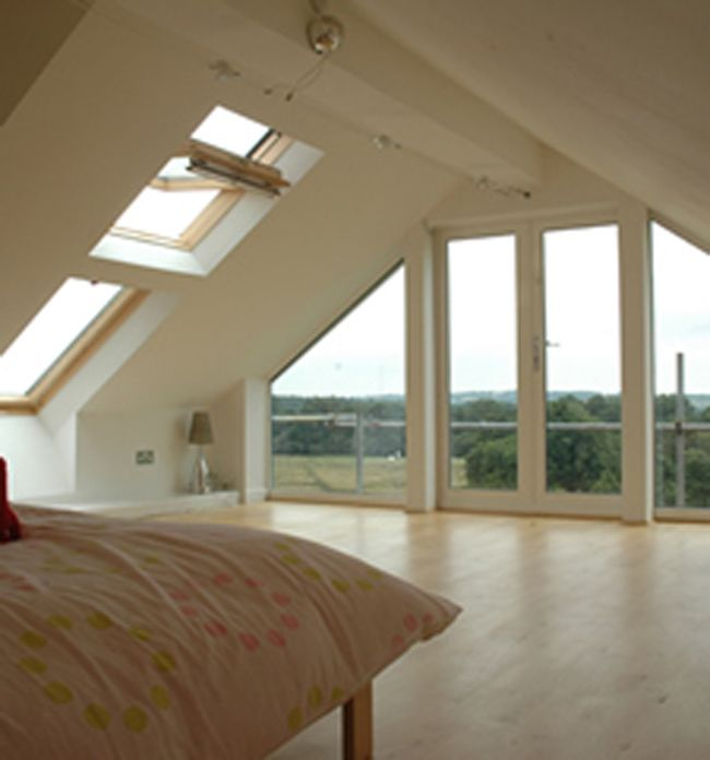 Full Length Windows In Gable End Wall Plus Fire Escape And Balcony Loft Room Loft Conversion Loft Spaces