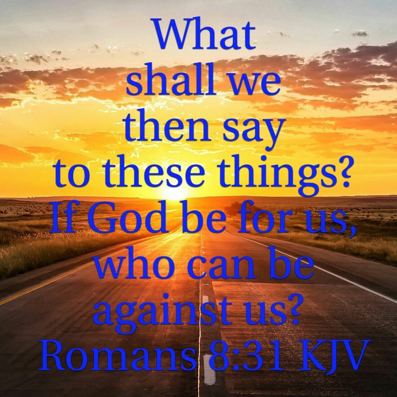 Image result for Romans 8:31 kjv