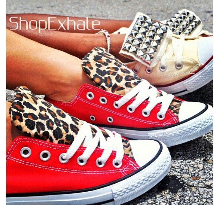 6409a13078b8 Diy inspiration- diy converse shoes with studs or fabric