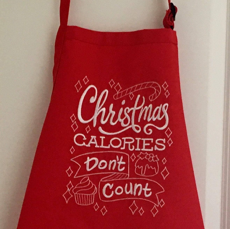 Apron Christmas Apron Embroidered Apron Cook 39 S Apron