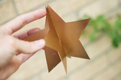 DIY: Estrellas Doradas   Decoración