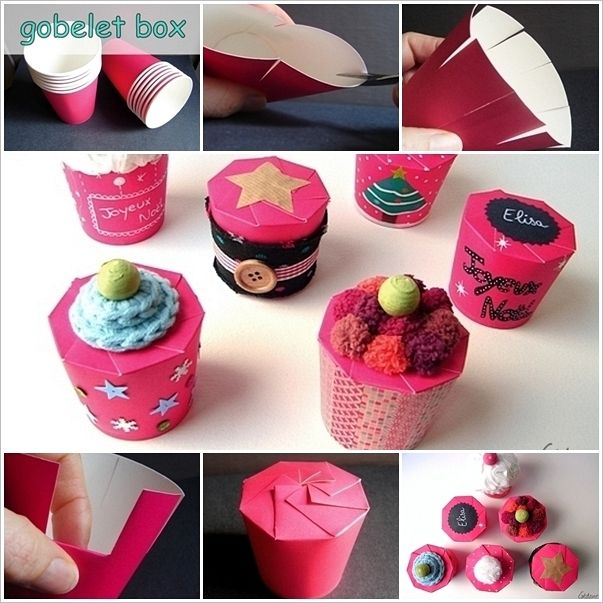 Inventive paper cup present box idea for you to try out http decoration negle Choice Image