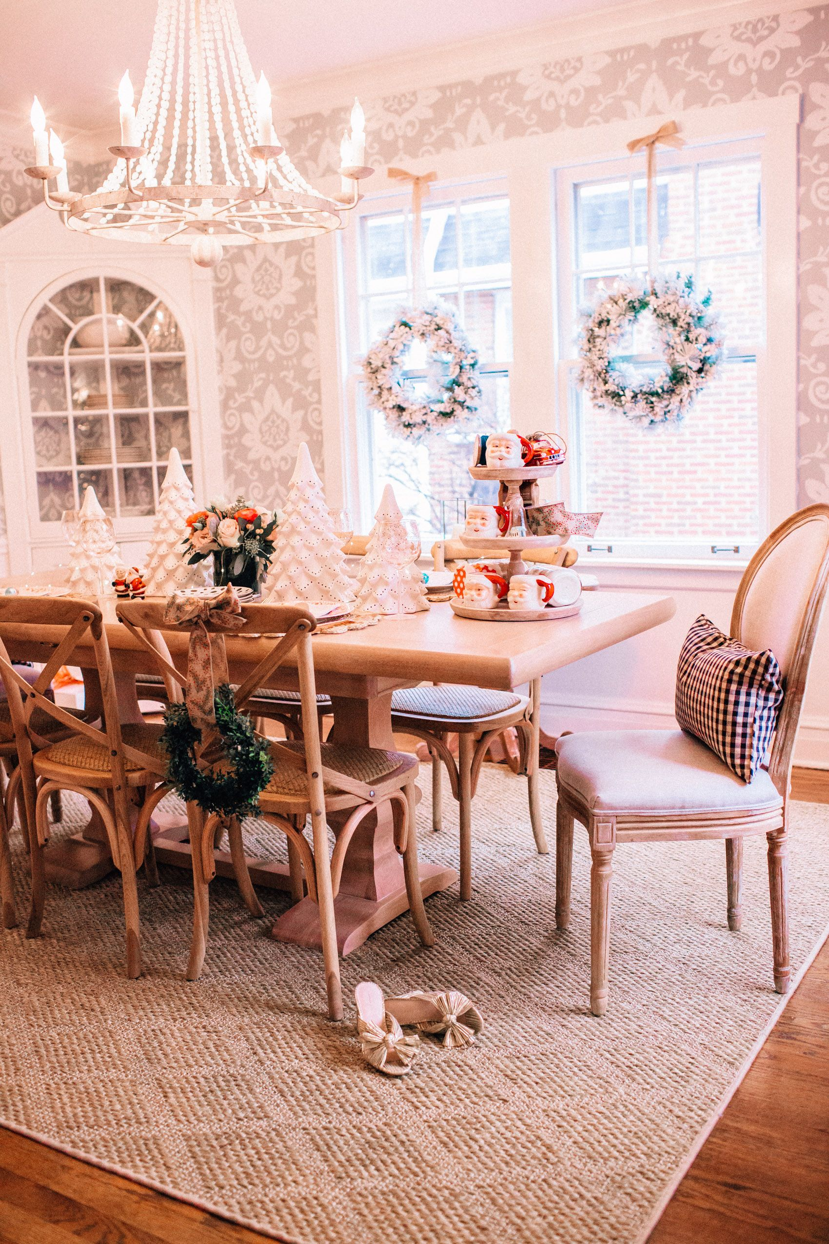 our dining room makeover with ballard designs — hello adams family