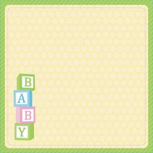 """Easy Peasy Page Layout With 3-D Design 12""""X12""""-Baby"""