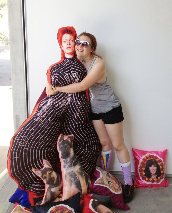 life size body pillow of david bowie