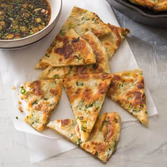 Scallion Pancakes with Dipping Sauce | America's Test Kitchen