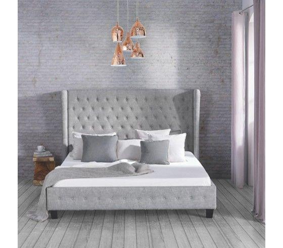 Romantisches Bett in Grau - märchenhafter Schlafgenuss für Ihr - schlafzimmer mit polsterbett