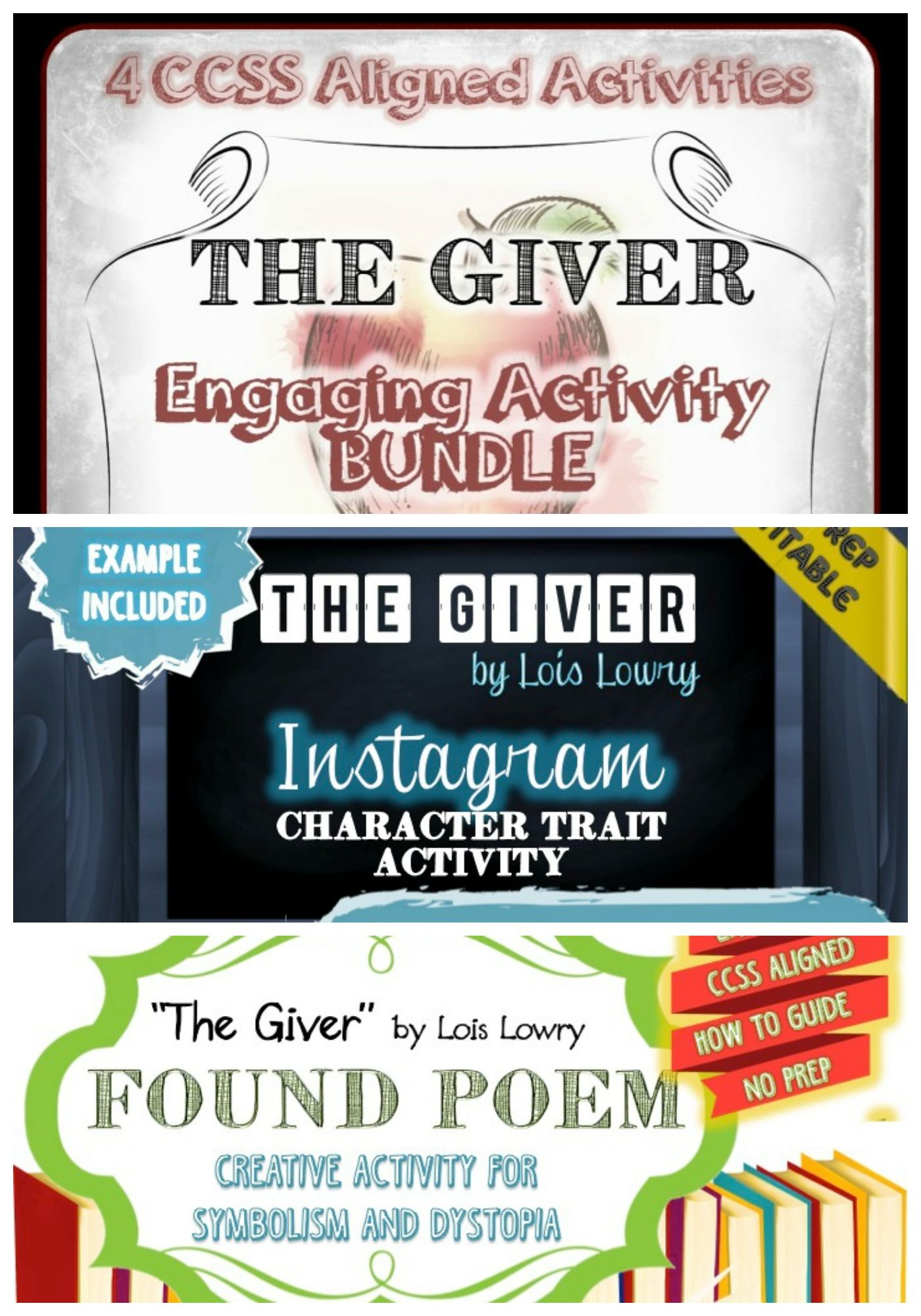 The Giver Activity Bundle