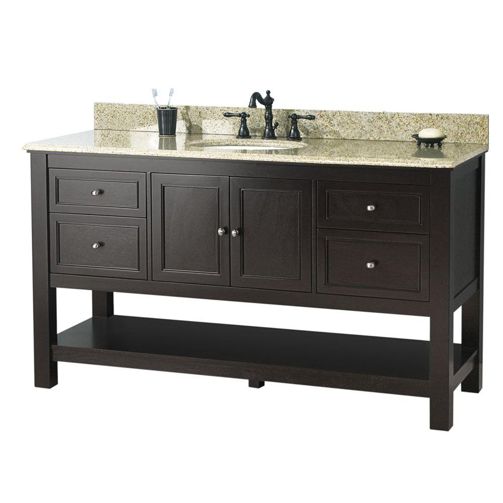 Foremost Gazette 61 In W X 22 In D Bath Vanity In Espresso With