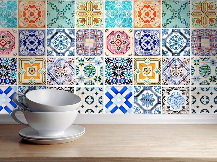 1001 conseils et id es de relooking cuisine petit prix design d int rieur stickers - Stickers plan de travail cuisine ...