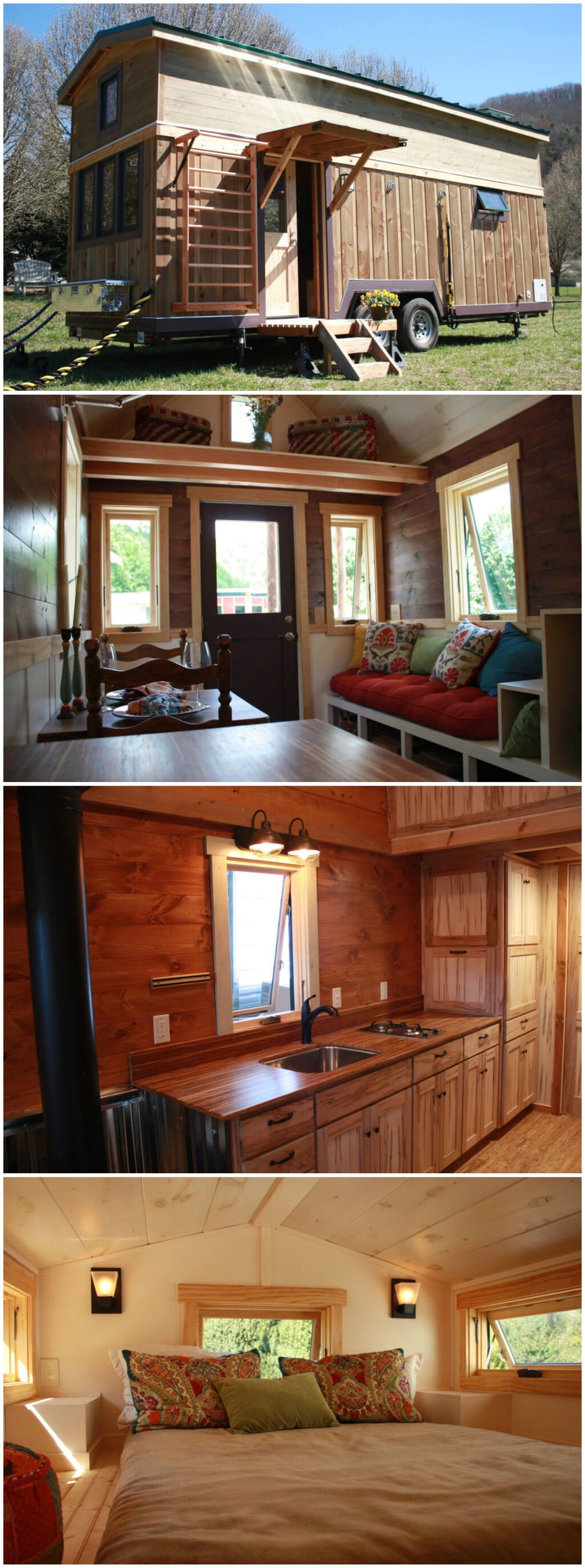 Fitness Nest Is A Gorgeous Tiny House Built By Blue Ridge Tiny Homes The Fitness Nest By Blue Ridge Tiny Ho Tiny House Tiny House Living Tiny House On Wheels