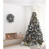 7 5ft Snowy Derry Pre Lit Christmas Tree At Homebase Co Uk Pre Lit Christmas Tree Outdoor Living Diy Christmas Tree