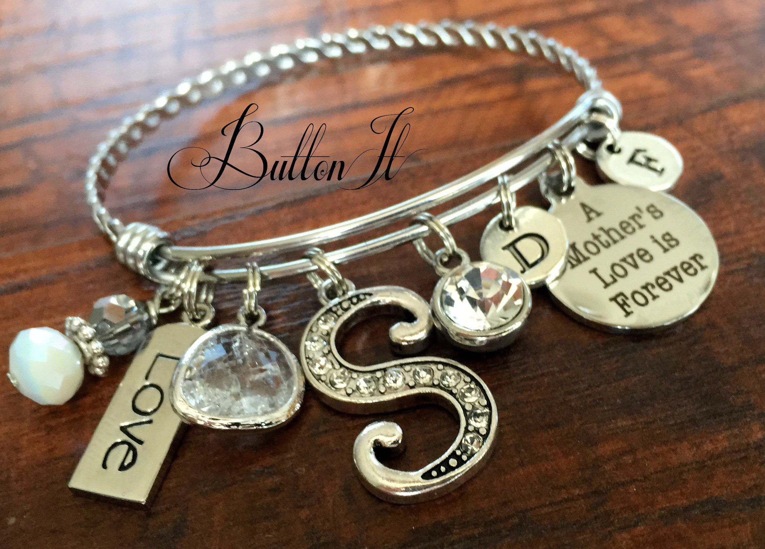 il s real mom name p mothers kids day fullxfull mother jewelry handprints for bracelet gift leather