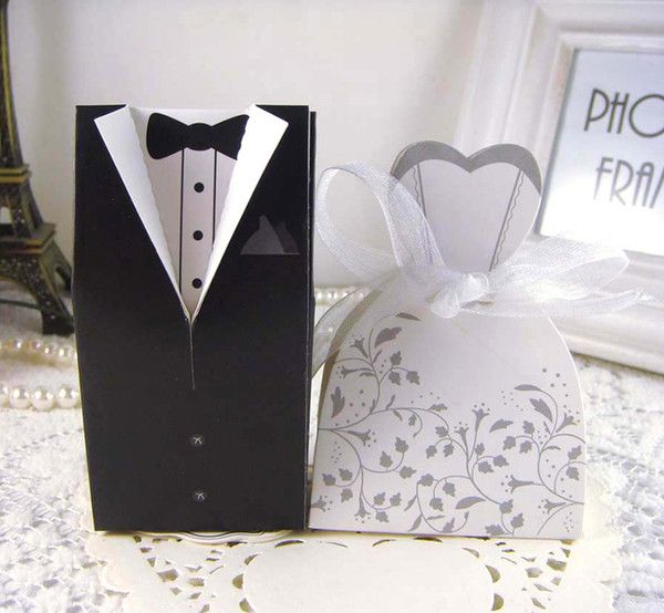 New Bride And Groom Candy Bo Wedding Favors With Flower Pattern Gift Box Party Supply As Low 15 58 Also Cupcake Favor