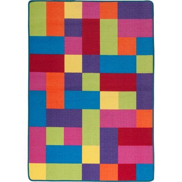 Washable Rugs John Lewis: Buy ColourMatch Kids' Extra Large Block Rug