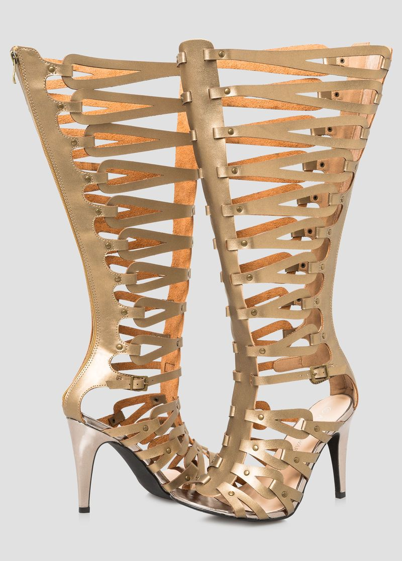 e07a7d69d14 Caged Tall Gladiator Sandal - Wide Calf