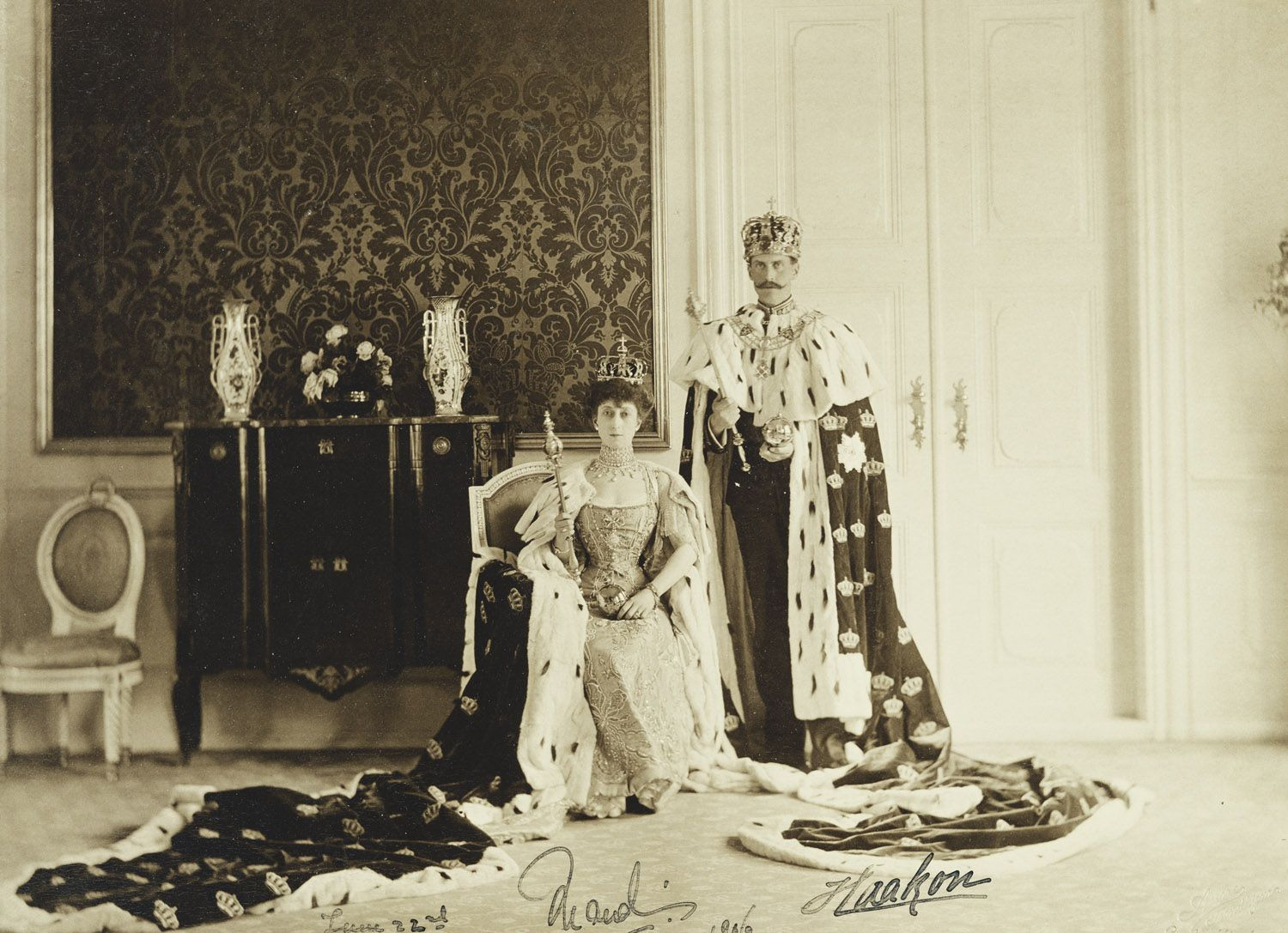 King Haakon VII and Queen Maud of Norway   Royal Collection Trust