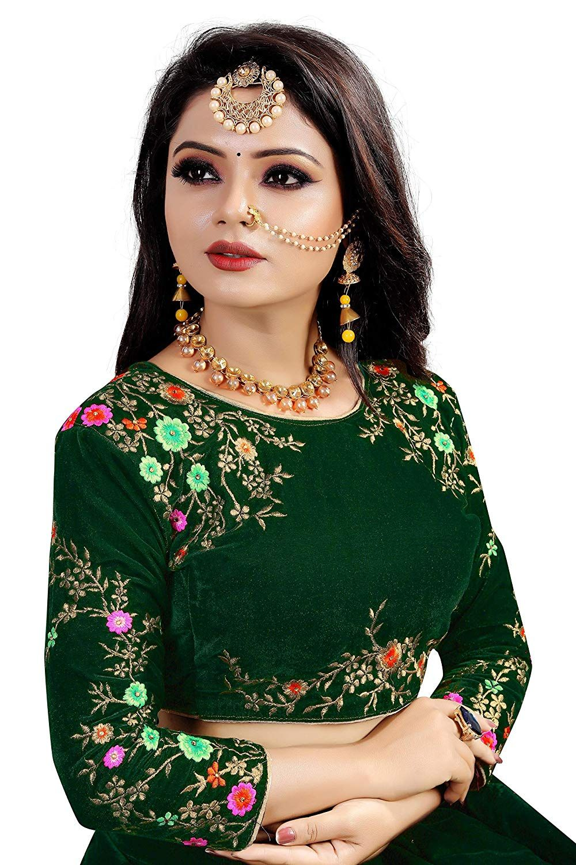 Caffoy cloth company velvet lehenga choli  gr green free size amazon clothing also rh pinterest