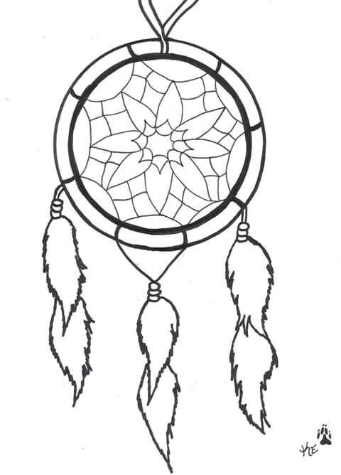 This Is My Finished Dream Catcher TattooI Have Many In Room Besides All The Wolf Stuffand I Was A Very Spiritual Mood