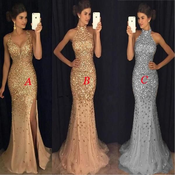 Sparkly Rhinestones Mermaid Elegant Popular Modest Prom Dresses,party dress,evening dress , PD0809 Sparkly Rhinestones Mermaid Elegant Popular Modest Prom Dresses,party dress,evening dress , PD0809 #modestprom