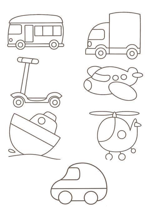 Transportation Coloring Page: School Bus | Ideias para a sala de ... | 670x474