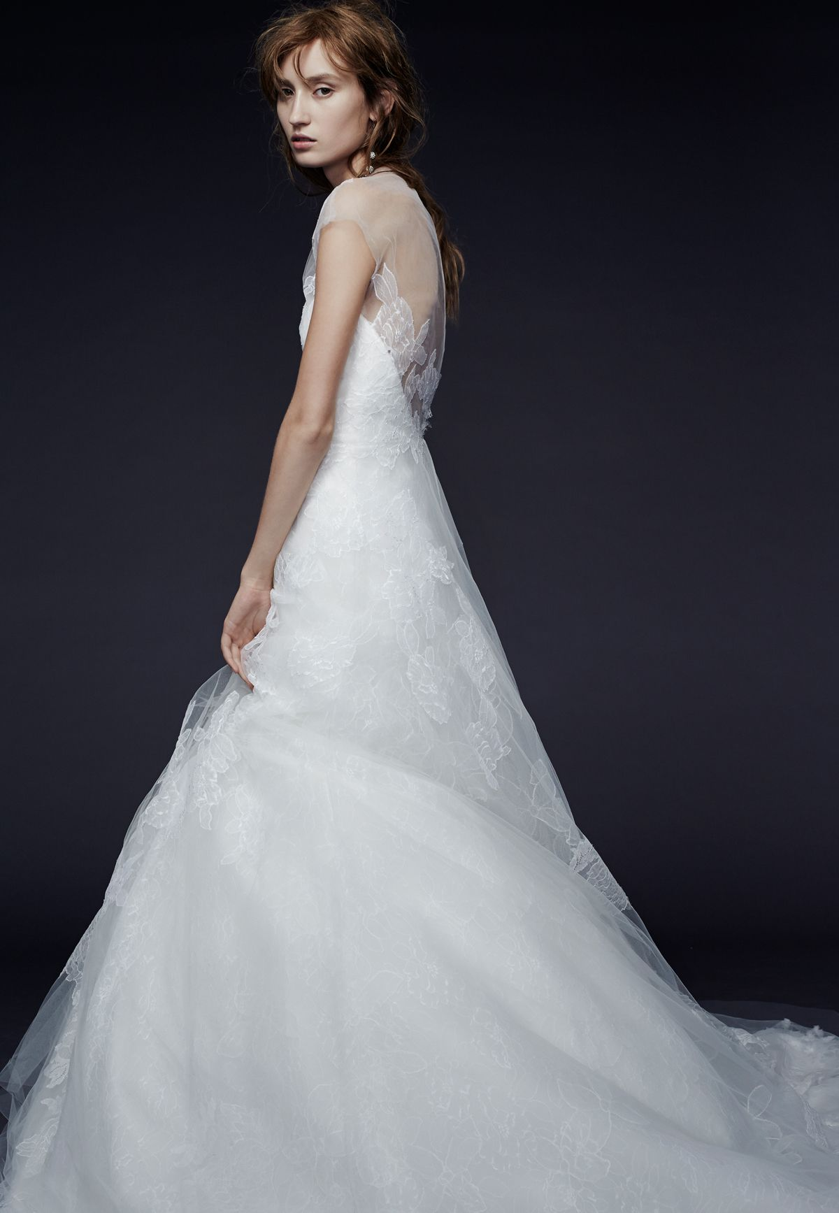 Cowl back lace wedding dress  Presenting the Vera Wang Iconic Bridal Collection Browse print