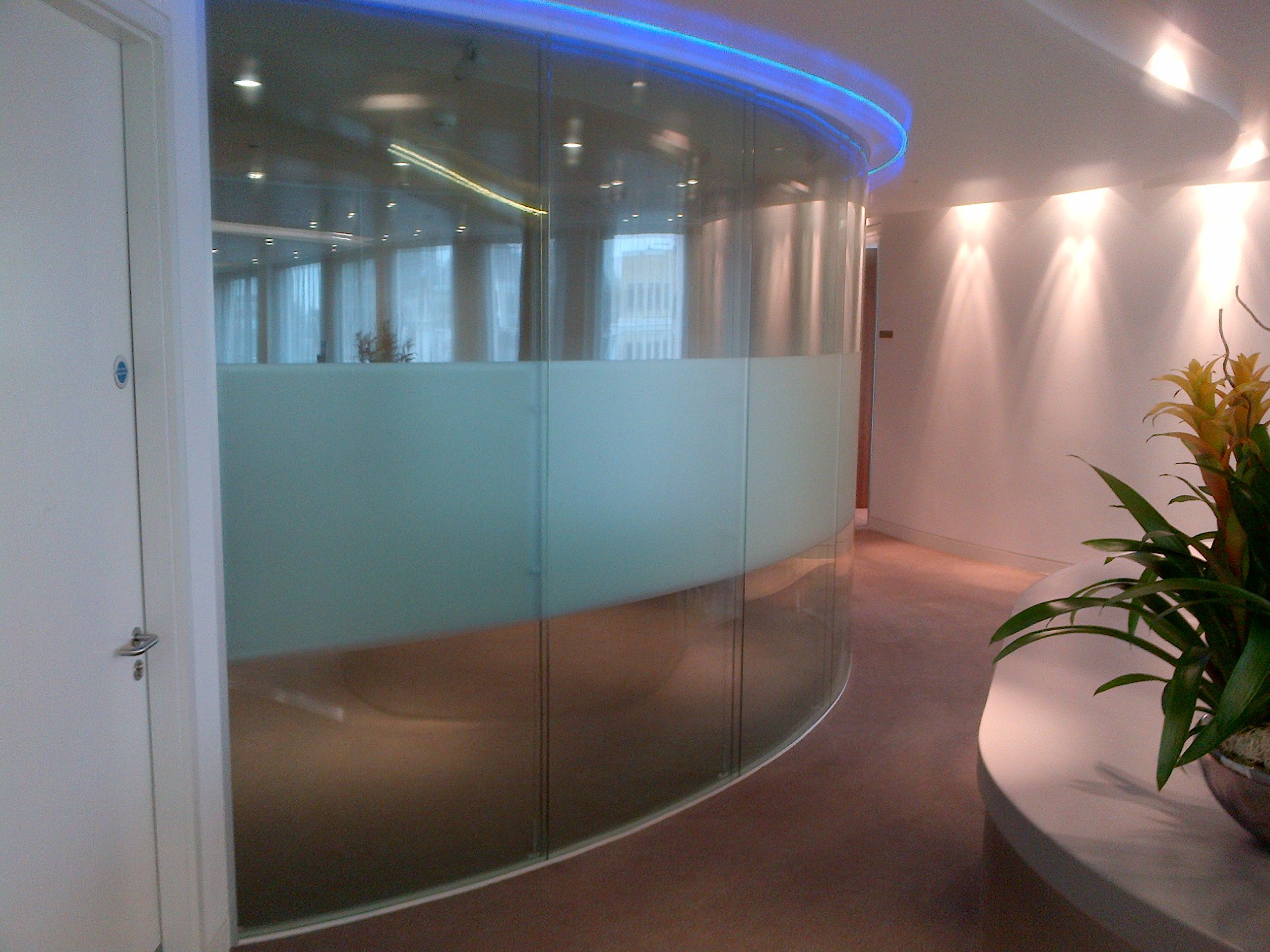 office partitions with doors. Curved Laminated Glass Office Partitions. Partitions With Doors