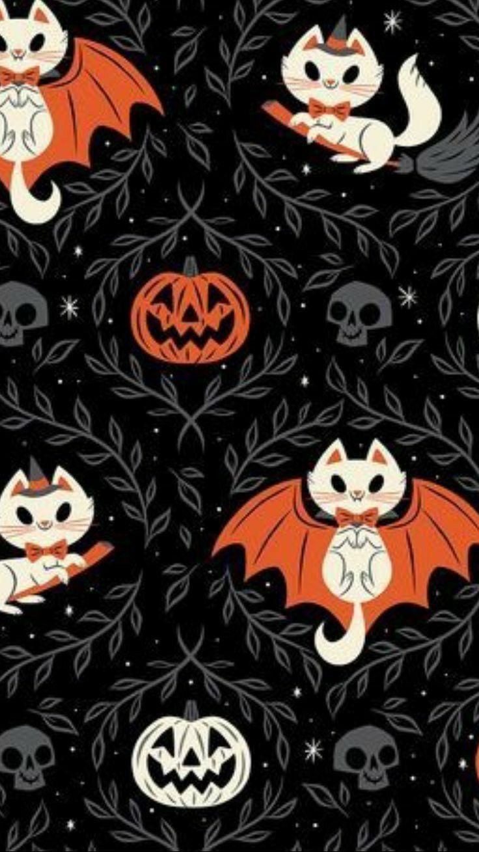 Halloween Pattern 画像あり ハロウィン 飾り ハロウィン イメージ 猫のイラスト