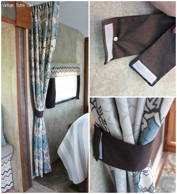 Awesome Travel Trailer Makeover, Part 8: Master Bedroom And Privacy Curtains.