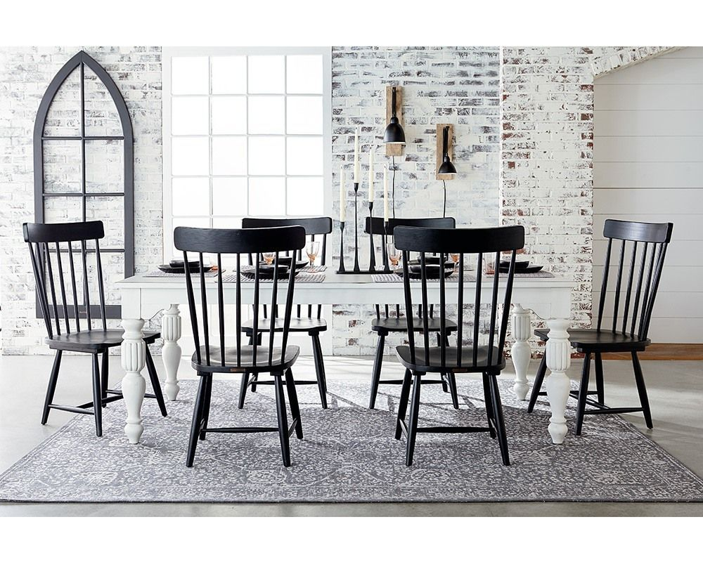 Magnolia Home By Joanna Gaines Wellborn Dining Table Black Dining Room Chairs Black Dining Chairs Dining Chairs