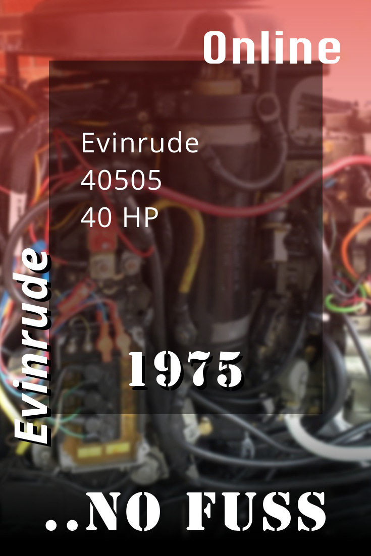 1975 40505 Evinrude 40hp Outboard Motor Repair Manuals Outboard 300hp